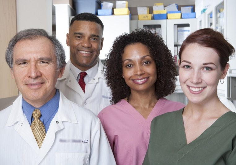 Portrait of dental professionals